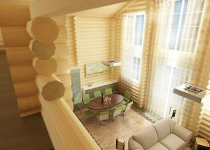 Дома из бревна: особенности проектирования