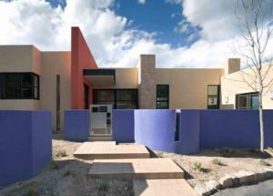 Современный одноэтажный дом в стиле hi-tech
