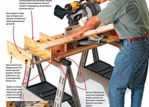 Столик-платформа для торцовочной пилы