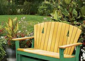 Диван-качалка для сада