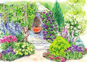 Цветы возле беседки - приют спокойствия и вдохновения