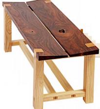 Современная скамейка из дерева своими руками