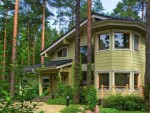 Проект деревянного дома из бруса с гаражом