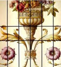 Витражная композиция в загородных домах