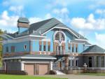 Проект трехэтажного элитного дома