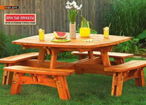 Стол для пикника в саду