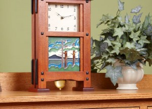 Часы в деревянном корпусе