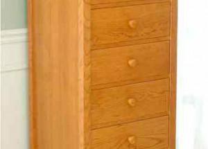 Узкий комод для белья с семью ящиками