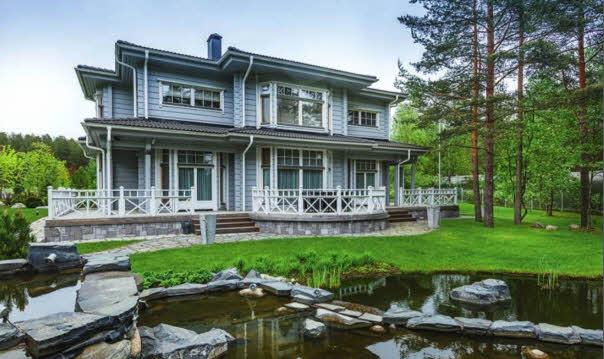 Проект двухэтажного деревянного дома из бруса