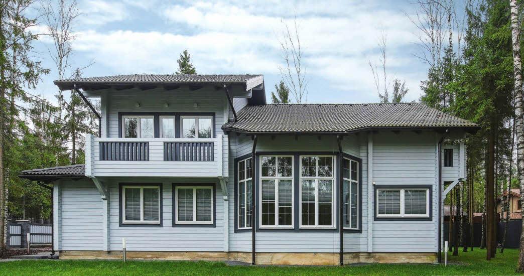 Проект деревянного дома из клееного бруса