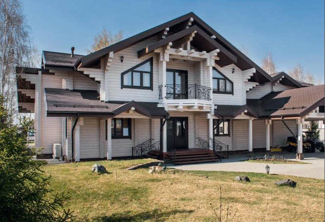 Проект дачного деревянного дома с мансардой