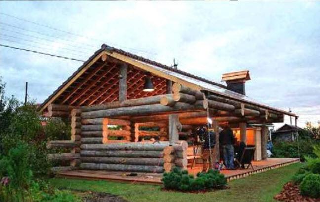 Проект деревянной беседки с барбекю