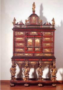 Кабинет с росписью по мраморным панелям. Антверпен. 1670 -1690 г.г.
