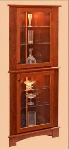 Угловой шкаф — витрина