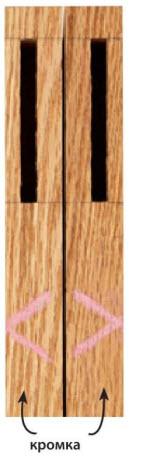 5 Каждая из этих нанесенных мелом стрелок указывает на лицевую сторону детали. Если во всех операциях в качестве базовой поверхности использовалась лицевая сторона (например, при выборке гнезд), то при сборке поверхности деталей выровняются.