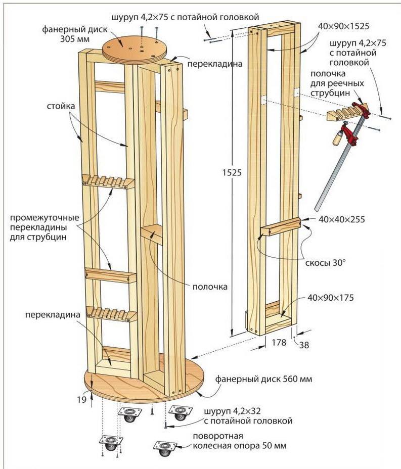 схема стойки для струбцин