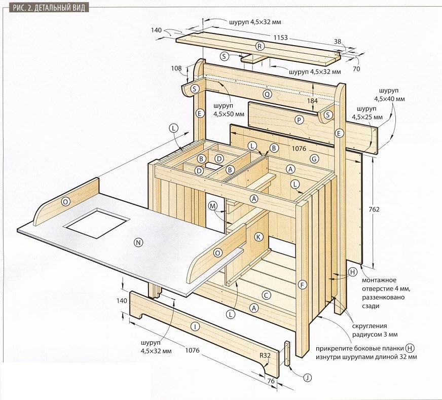 Рабочий стол садовника - схема