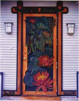 резная дверь, резьба и дверь