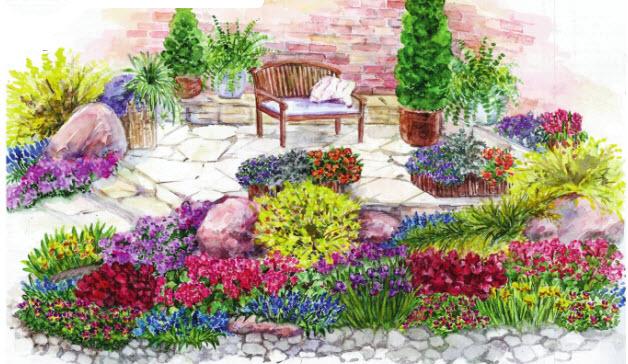 итальянский ландшафтного дизайна сада