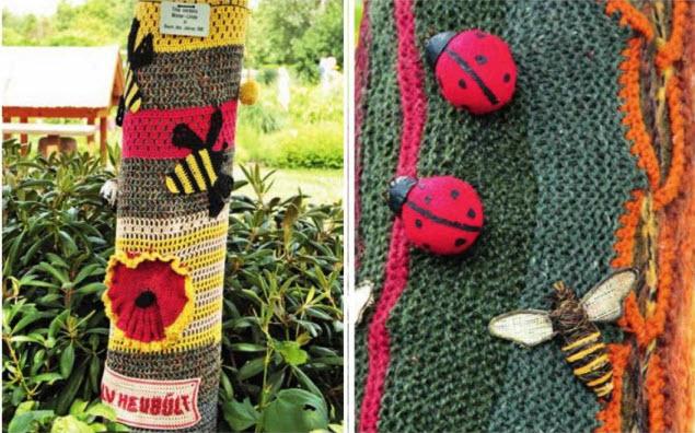 вязание на дерево декор