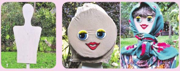 Садовые скульптуры-куклы для сада своими руками