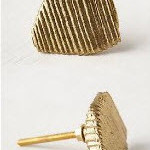 Ручки на кухонные шкафчики Metallic Driftwood Knobs, Anthropologie