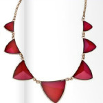 Колье, Blu Bijoux Gold And Triangular Red Stone Necklace, Max & Chloe