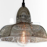 Светильник, Birger Industrial Loft Antique Mercury Glass Dish Pendant, Kathy Kuo Home