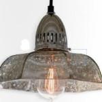 Светильник, Birger Industrial Loft Antique Mercury Glass Dish Pendant, Kathy Kuo Home