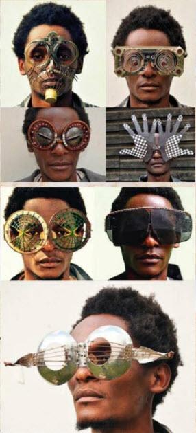 Хипстерские и стимпанковские очки, очки для фешн-подиумов, в стиле хиппи - Сирус