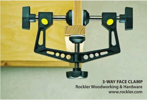 Rockler's 3-Way Face Clamp