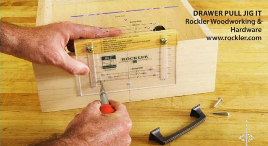 Rockler's Drawer Pull Jig It