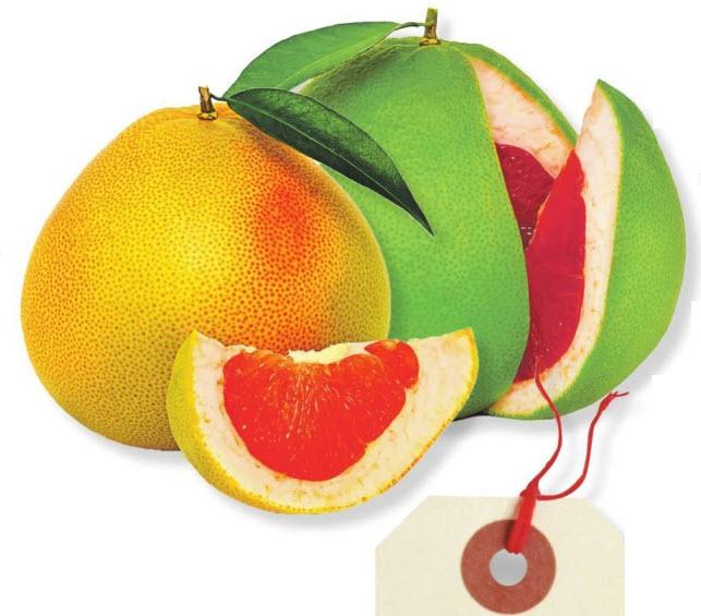 фрукт помело спелые плоды