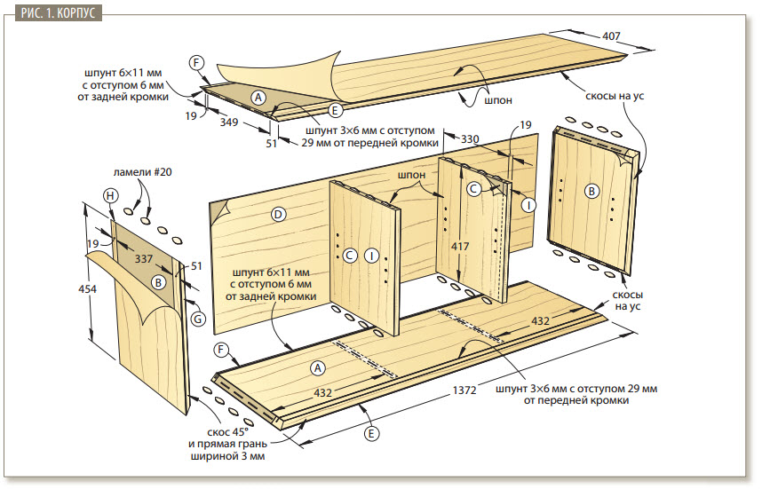 схема шкаф-тумба